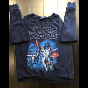 Black Star Wars Pullover